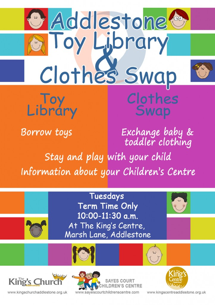 Clothes swap flyer blead flat